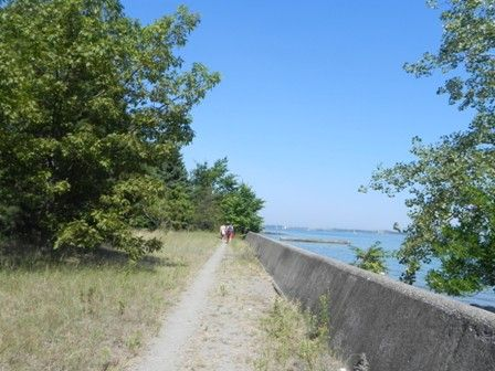Sights Carol may have seen in Secrets and Lies: From chapter 9: This is the path they walked along before the guy stole Carol's bag. If you walk far enough, it becomes a boardwalk. This is the concrete wall they'd have leaned on to watch the paddleboarder.