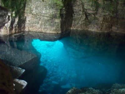 Halfway Rock Point; grotto near Tobermory, Ontario.