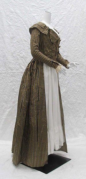 ca. 1787 Redingote, silk;probably French. (side)