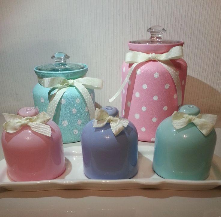 DIY Painted Polka Dot Jars