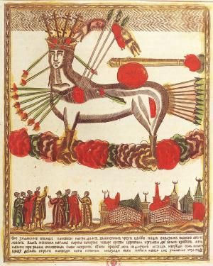 382.Небесное знамение над городом Шлонском в 1736 году. 1830 — 1840-е годы