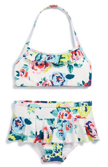 Mini Boden Skirted Two-Piece Swimsuit (Toddler Girls, Little Girls & Big Girls) available at #Nordstrom