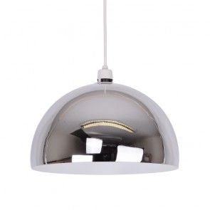 New York Coffee Shop Style Polished Chrome Dome Pendant