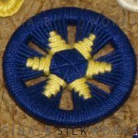 Sabine Star ring button by Gina  Barrett