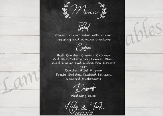 Oltre  Fantastiche Idee Su Wedding Menu Template Su