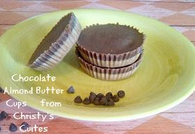 Christy's Cuties: VEGAN Chocolate Almond Butter Cups