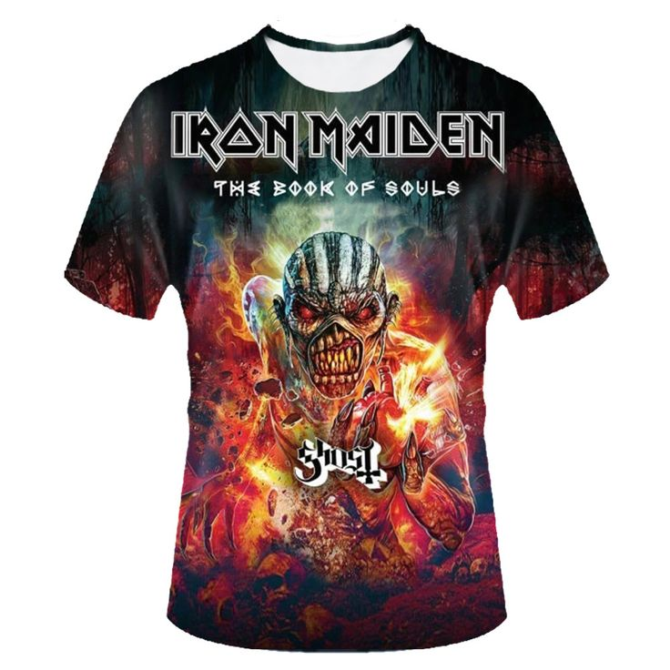 Iron maiden book of souls with Ghost Tour T-Shirts Sizes S to XXXL