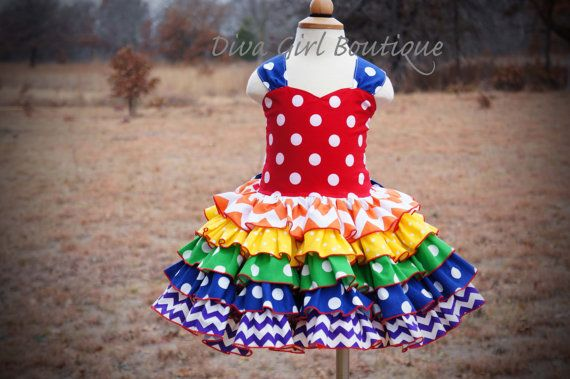 Hey, I found this really awesome Etsy listing at https://www.etsy.com/listing/216595490/rainbow-dress-ruffle-dress-boutique