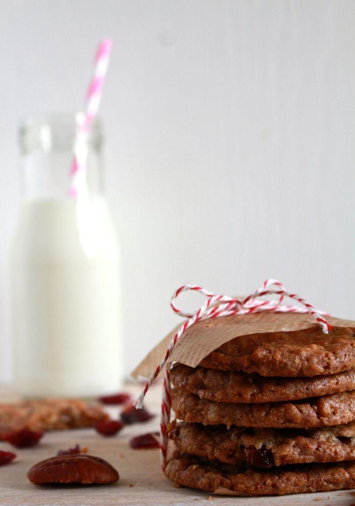 Koekjes met cranberry en witte chocolade