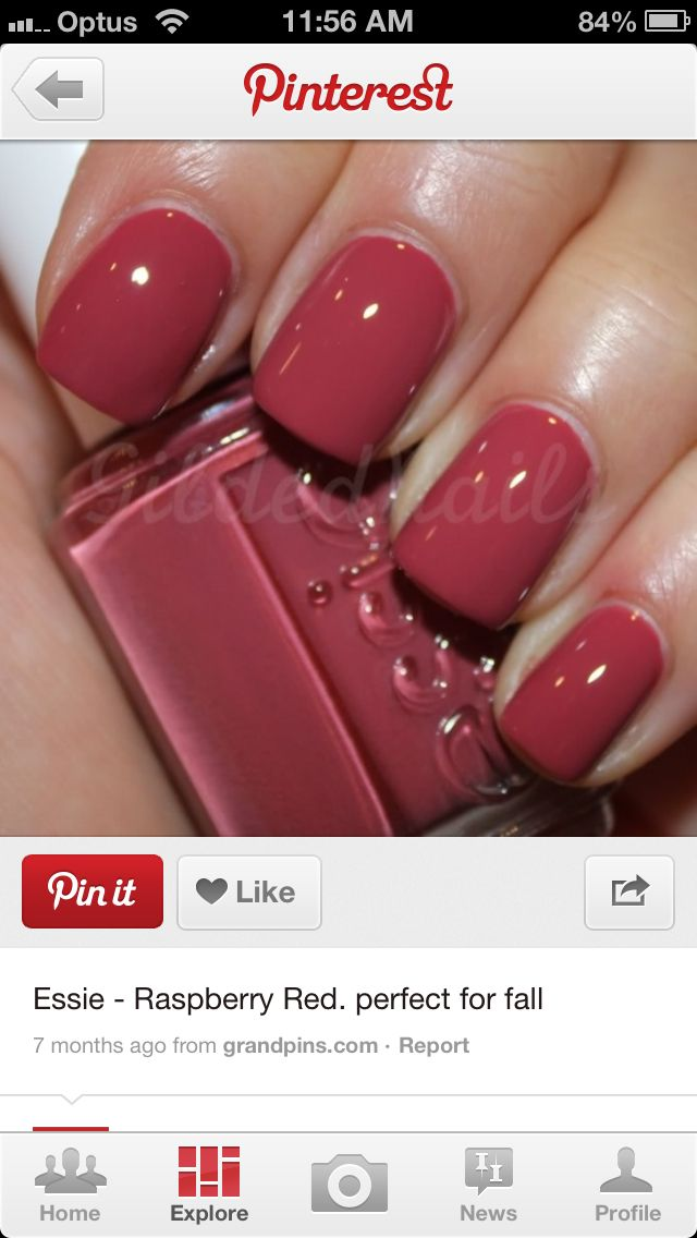 "Essie nail polish ""Raspberry Red"""