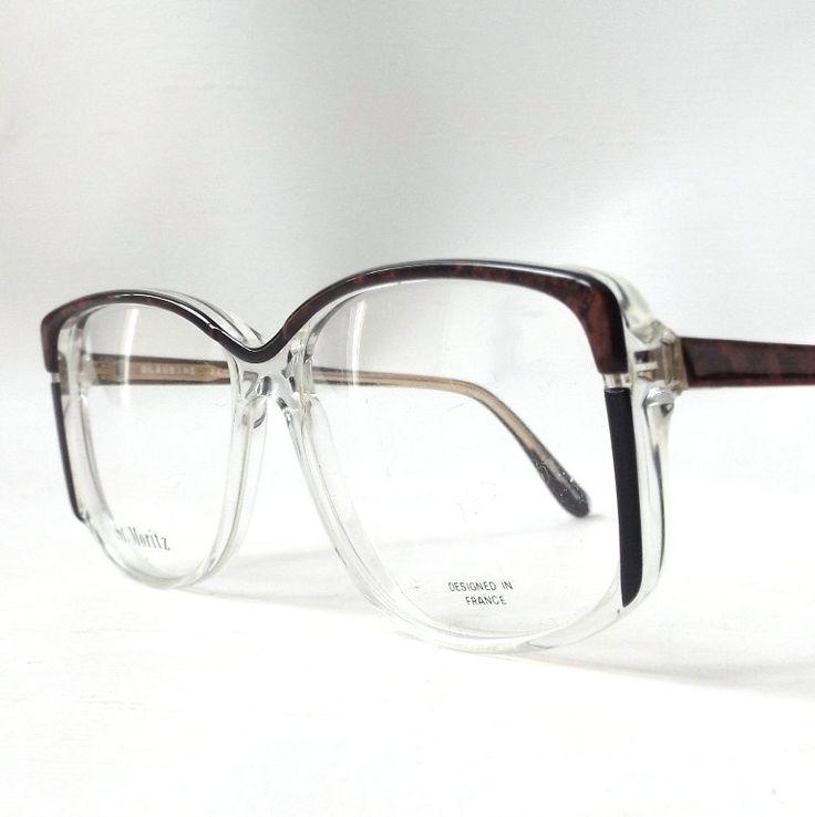 vintage 1980's NOS eyeglasses oversized brown marble black clear plastic frames prescription womens eyewear retro eye glasses modern new old by RecycleBuyVintage on Etsy