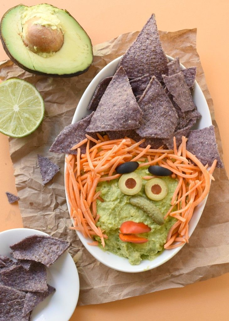 Make this Halloween fun AND healthy with a Witchy Guacamole Dip