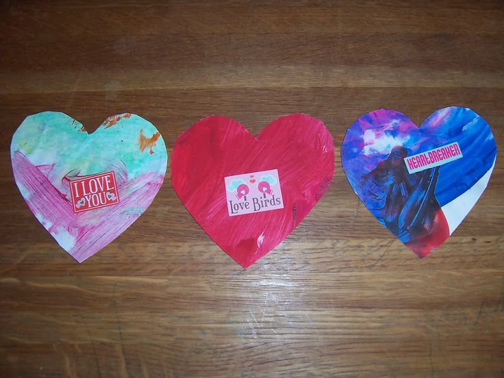 Make Montessori Homemade Valentines with Recycled Children's Artwork {Confessions of a Montessori Mom blog} #Montessori #Valentines