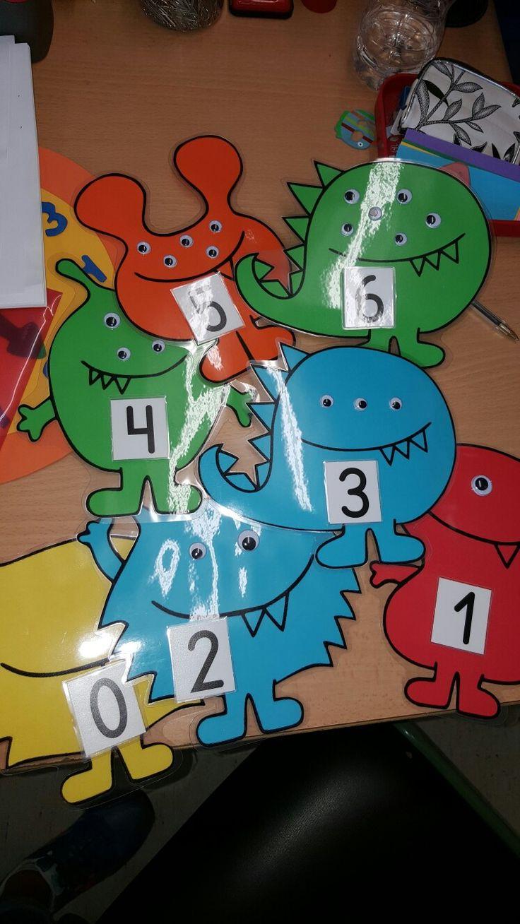 Juego matemático para asociación de número grafia y cantidad.
