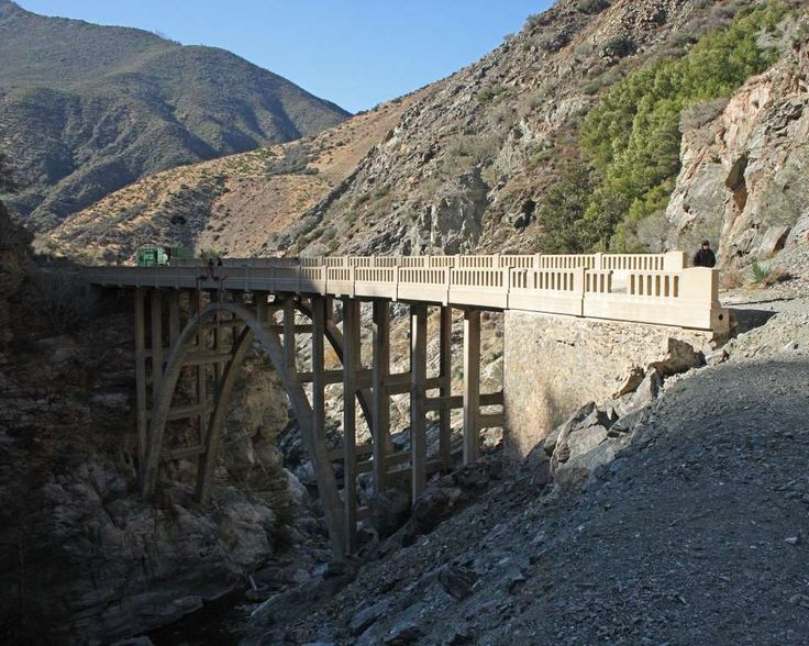 "Best of California on a Budget:     ODDEST ATTRACTION: BRIDGE TO NOWHERE:    Feel like you've been there, done that, seen it all? This quirky destination may prove otherwise. After a bridge in the San Gabriel  Mountains was completed, a flood wiped out the road leading to it. With the road never replaced, it's now a ""bridge to nowhere"" ‐‐ two  hours from Los Angeles but accessible only by a five‐mile hike ﴾with a free permit﴿."