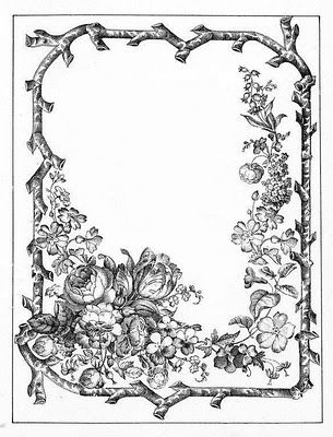 bumble button: A new group of beautiful late 1800's book plates. Black and white.