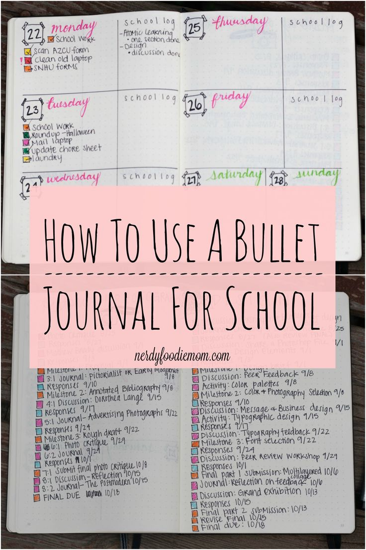 How To Use A Bullet Journal For School - bullet journaling can make you so much more organized for school and college and help keep you on track!