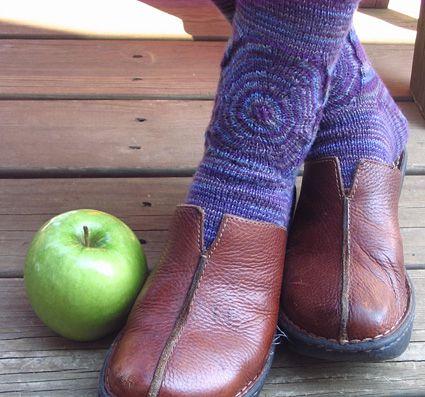 Knitty Target Practice Socks