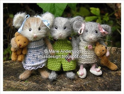215 best mice images on pinterest stuffed toys plushies and boy doll most precious crocheted mice fandeluxe Choice Image