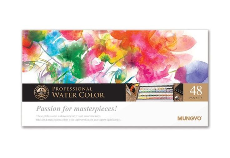 Watercolor Paint Mungyo Professional Pans Set 24 Color MWPH-48C #Mungyo