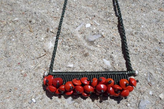 Check out this item in my Etsy shop https://www.etsy.com/listing/539020111/macrame-necklacemacrame-pendantmacrame