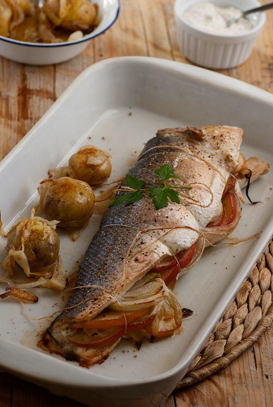 Lubina rellena de manzana e hinojo pescados marisco for Cocinar hinojo