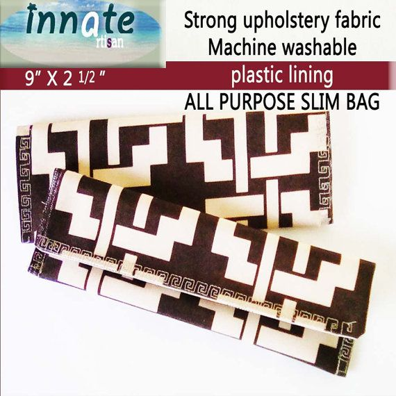 Slim fabric bag 9 x 2 1/2 by InnateArtisanSoap on Etsy