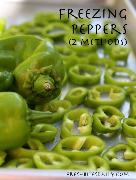 Freezing green peppers — Two methods for your unique needs