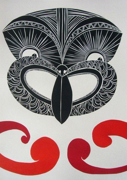 Kia Ora Tiki print www.anniesmitssandano.com