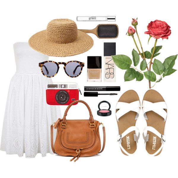 Picnic dates are all about keeping it fun! Team white sandals with a cotton dress and straw hat. Accessorise with a tan satchel and don't forget to bring a camera! Shop the sandals at #styletread | #shoes #summer #valentinesday #cute #sandals #flats