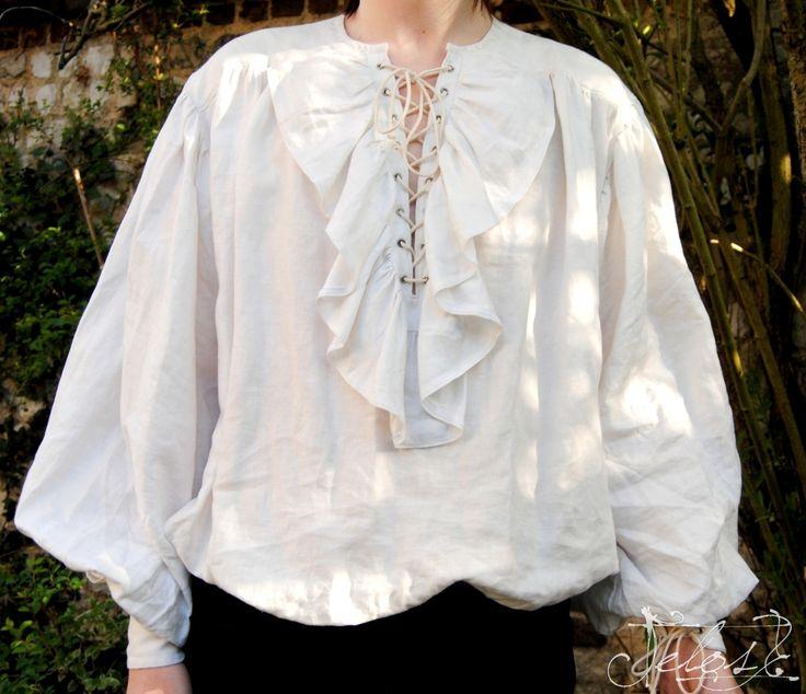 Chemise à Jabot mixte 17ème Siècle. : Chemises, blouses par telos