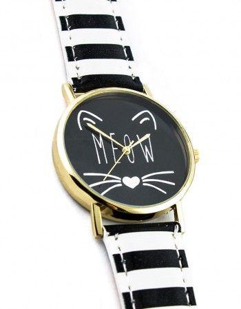 Zegarek Meow Paski http://www.panikota.pl/64-zegarki #paniKOTA #zegarek #koty #meow #biżuteria #dodatek