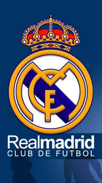 Escudo Real Madrid. barra azul-azul
