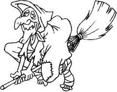 Výsledek obrázku pro čarodějnice omalovánky