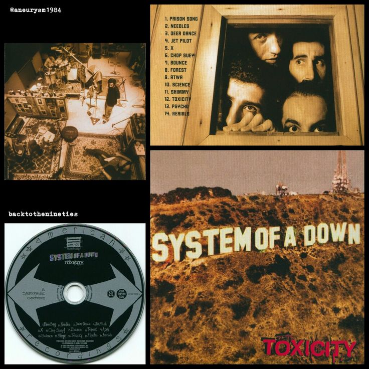 #HappyAnniversary 15 years #SystemOfADown #Toxicity #album #alternative #metal #numetal #music #00s #00smusic #00salternative #JohnDolmayan #ShavoOdadjian #DaronMalakian #SerjTankian #RickRubin #00salbum #SOAD @systemofadown #00sCD #2001 #PhotoGrid