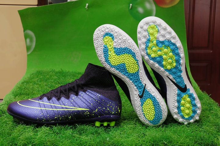 Cheap Nike Mercurial Superfly FG, Indoor,  Turf (Squadron Blue/Black/Volt) at topflightcleats.co.uk