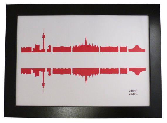 Vienna City Skyline print with the Austrian by DragonTreeStudio, $12.00