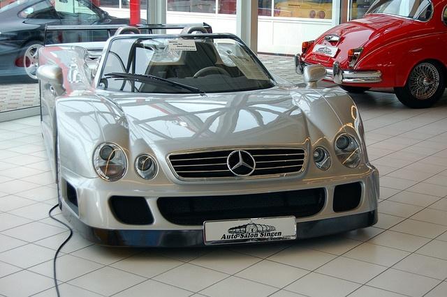 1999 Mercedes Benz CLK-GTR AMG at Auto Salon Singen, Germany. A beast.