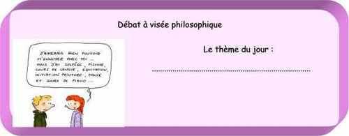 Le débat à visée philosophique ou atelier philo