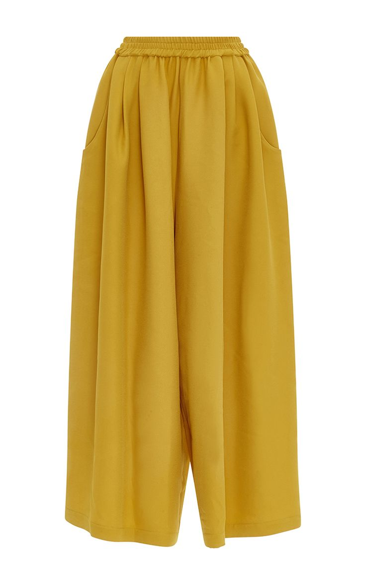 Mustard Crepe Karate Pant by TOME for Preorder on Moda Operandi