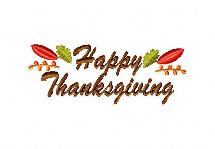 Autumn happy thanksgiving machine embroidery design