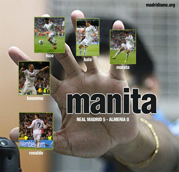 Real Madrid 5, Almeria 0 = MANITA http://www.madridismo.org