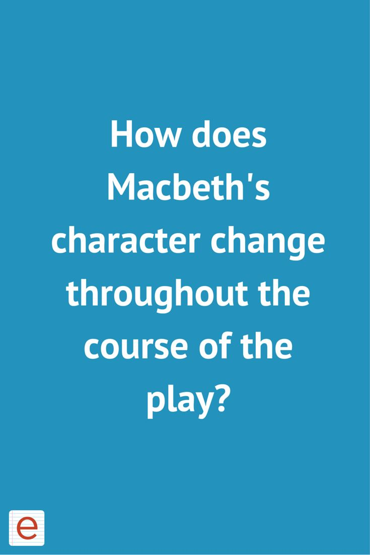 Macbeth homework help