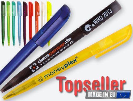 TIPWIN FROST Drehkugelschreiber in vielen Ice-Farben lieferbar. Viel Platz für Druck auf Schaft und Clip. #kugelschreiber #drehkugelschreiber #werbeartikel kugelschreiber