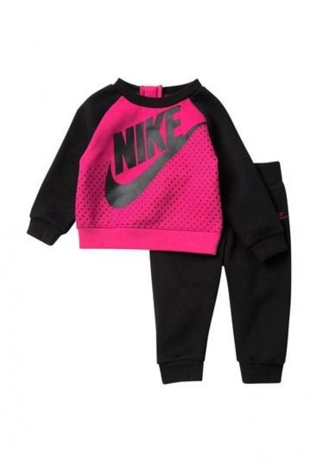 Image Of Nike Sweatshirt Jogger Set Baby Girls Babyclothing Baby Clothing Nike Trendy Baby Girl Clothes Baby Boy Fashion Winter Baby Girl Clothes