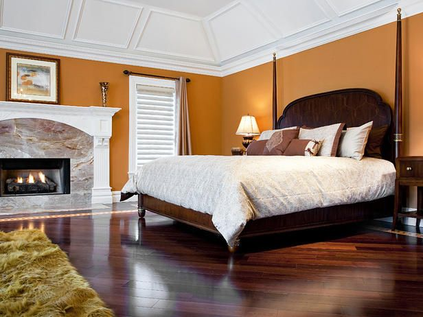 Modern Bedrooms from Vanessa DeLeon on HGTV The marble fireplace in the  bedroom literally warms up the room and provides balance with its white. 17 Best ideas about Orange Bedroom Walls on Pinterest   Navy