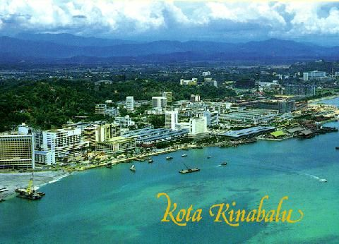 Kota Kinabalu - capital city of Sabah, in Borneo. March 11, 2012   Tom and I