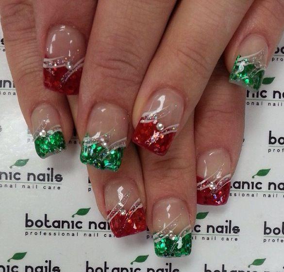 1000+ Ideas About Christmas Acrylic Nails On Pinterest