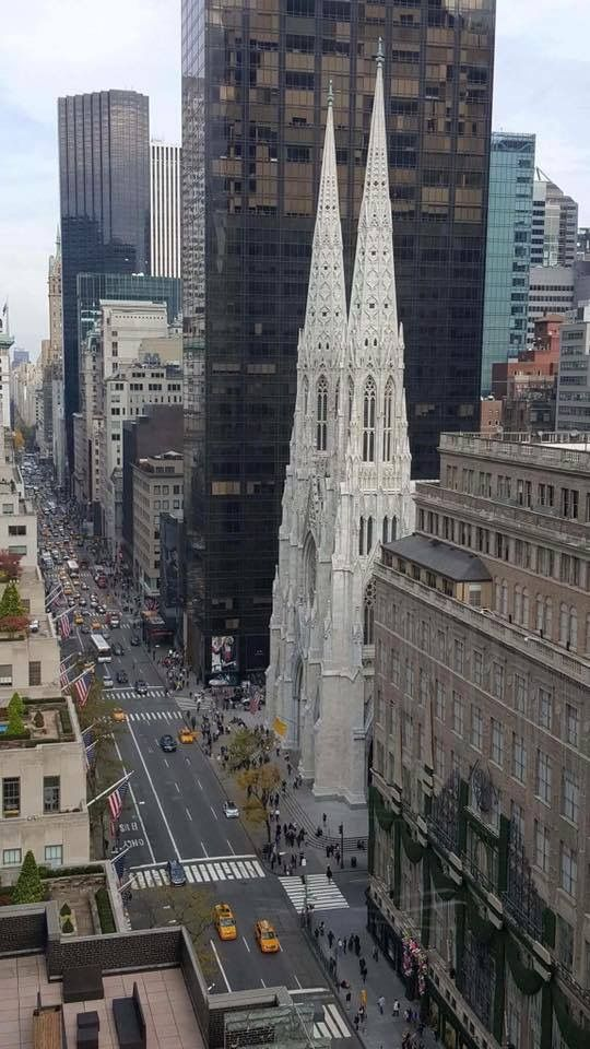 Newly restored St Patrick's Cathedral on 5th ave across from St Thomas Episcopal Parish (a superior piece of religious architcure