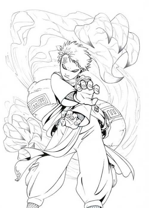 25 melhores ideias de naruto para desenhar no pinterest - Coloriage naruto gaara ...